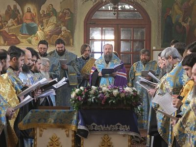 Lugansk region praying to the Mother of God for peace in the Ukraine