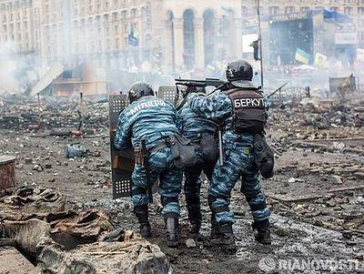 Snipers shooting at policemen in Kiev, 20 injured