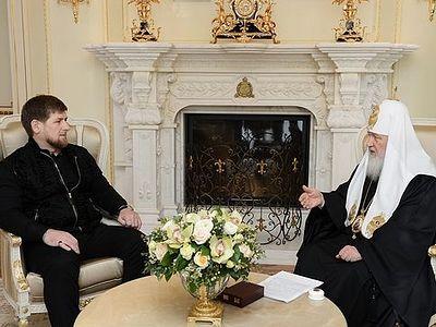 Святейший Патриарх встретился с главой Чеченской Республики Р.А. Кадыровым