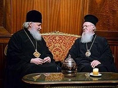 Состоялась братская беседа Предстоятелей Константинопольской и Русской Церквей