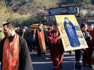 Грузия: мощи старца Гавриила (Ургебадзе) перенесены в монастырь Самтавро