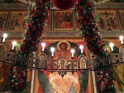 Пасхальное богослужение в Сретенском монастыре