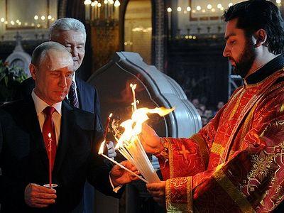 Президент России: «Пасхальные торжества наполняют сердца любовью и радостью»