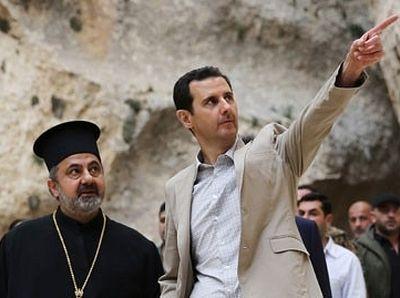 Президент Сирии из Маалюли поздравил христиан с Пасхой