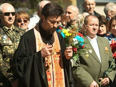 A priest killed in the Donetsk region