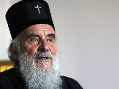 Serbian patriarch visits Albania, nationalists protest