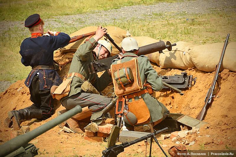 Осада крепости Осовец. Германские пулеметчики