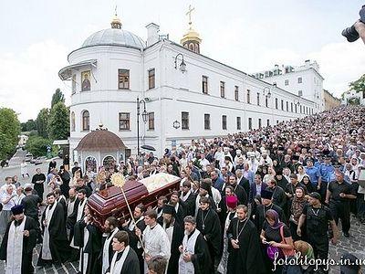 Cостоялось отпевание и погребение Блаженнейшего митрополита Киевского и всея Украины Владимира