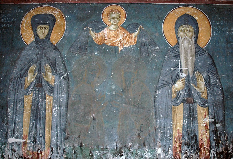 Sts. Simeon the Myrrh-Streamer and Anna Nemanici, parents of St. Savva the Serb