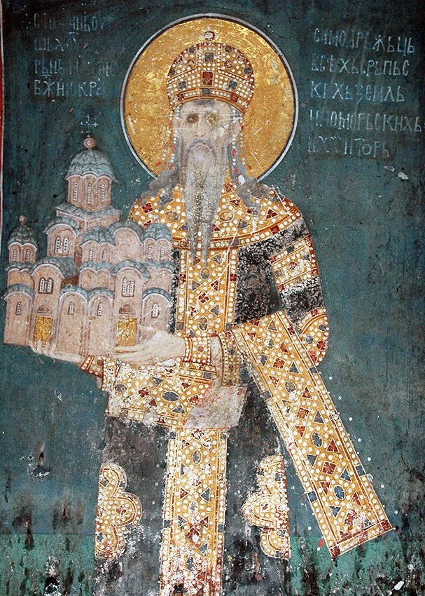 Holy King Milutin Nemanic, the patron of Gracanica