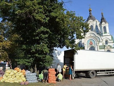 Diocese of Zaporozhye sends 28 tons of Humanitarian Aid to Donbass