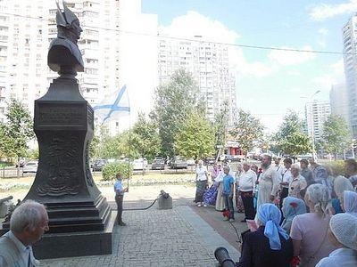 Москвичи почтили память прав. воина Феодора Ушакова