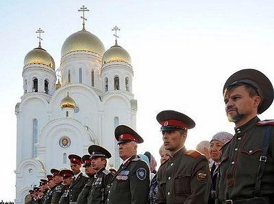 В десяти регионах России возведут десять казачьих храмов