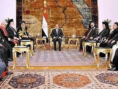 Президент Египта встретился с христианскими лидерами страны