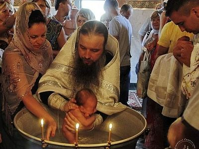 Over 30 refugees baptized at Svyatogorsk Lavra
