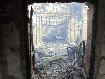 Another church destroyed by shelling in Donbass (updated version)