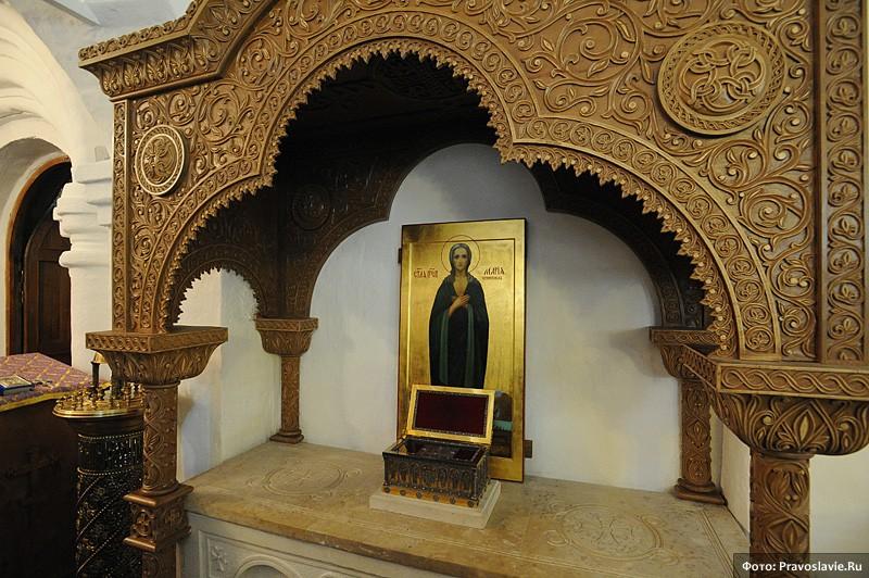 Мощи прп. Марии Египетской