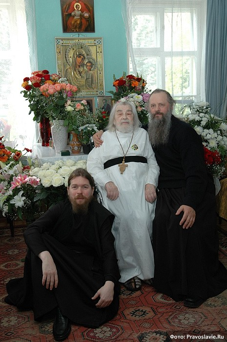 Архимандрит Иоанн (Крестьянкин), архимандрит Тихон и архимандрит Анастасий