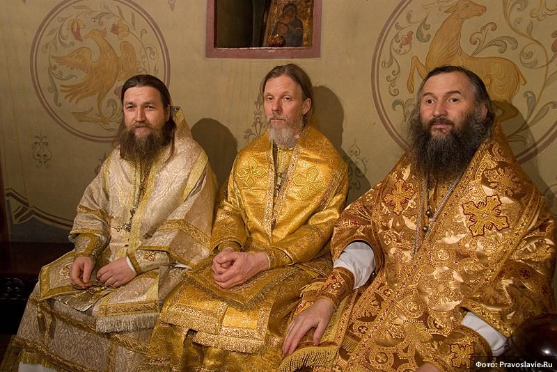 Епископ Домодедовский Евтихий, архиепископ Вологодский и Великоустюжский Максимилиан и архиепископ Йошкар-Олинский и Марийский Иоанн