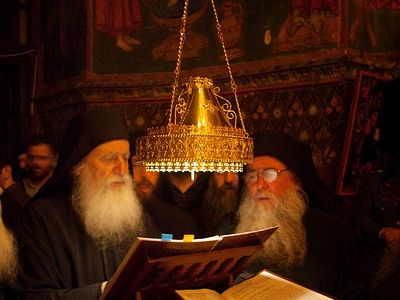 Feast of the Deposition of Holy Cincture of the Mother of God solemnly celebrated at Vatopedi Monastery