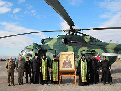 В Петропавловске-Камчатском состоялся вертолетный крестный ход