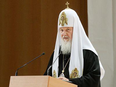 Выступление Святейшего Патриарха Кирилла на встрече с участниками VI фестиваля «Вера и слово»