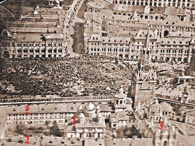 Восстановить монастыри Кремля поможет фото демонстрации 7 ноября 1918 года