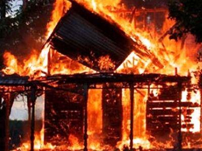 В Черкасской области сожгли сатанинский «храм»