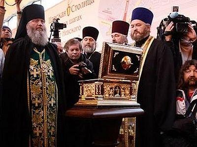 Частица мощей прп. Сергия Радонежского доставлена в Петербург