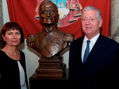 В «Русском доме» в Белграде установили памятник сербскому королю Александру I