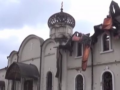 Ukrainian army shelling Iveron Convent in Donetsk