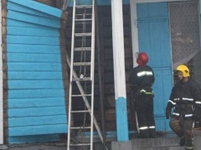 Arson of a church in Chernigov region of the Ukraine