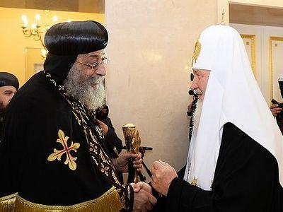 Святейший Патриарх Кирилл встретился с Патриархом Коптской Церкви Феодором II
