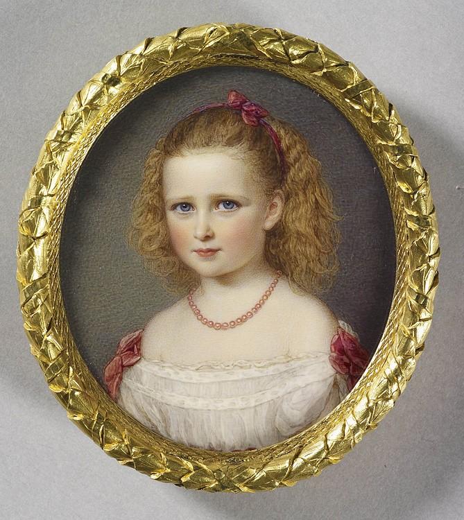 1868 г. Юная принцесса Елизавета Гессенская. Акварель работы Реджинальда Истона