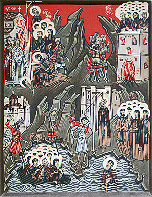 Holy Martyrs Killed by the Latins at the Iveron Monastery on Mt. Athos (13th century)