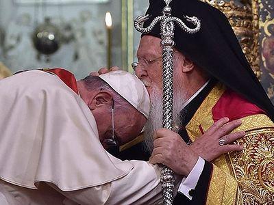 Папа Римский и Константинопольский патриарх «подтвердили общие намерения и проблемы»