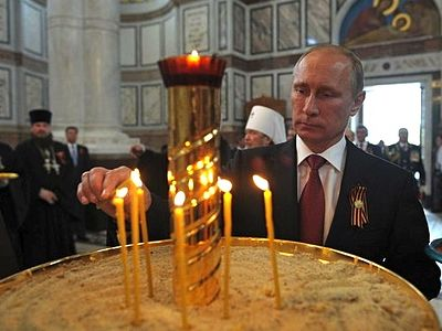 Putin says that the Crimea where Prince Vladimir took Baptism has sacred meaning for Russia