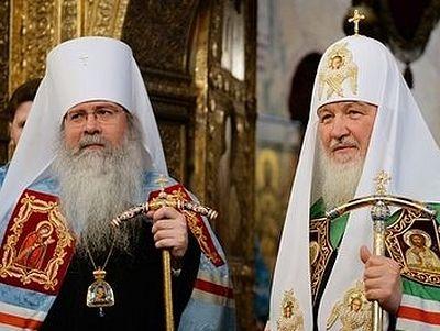 Metropolitan Tikhon concelebrates Liturgy with Patriarch Kirill