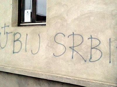 Croatia: 'Kill The Serb', Ustasha Graffiti On Serbian Orthodox Church