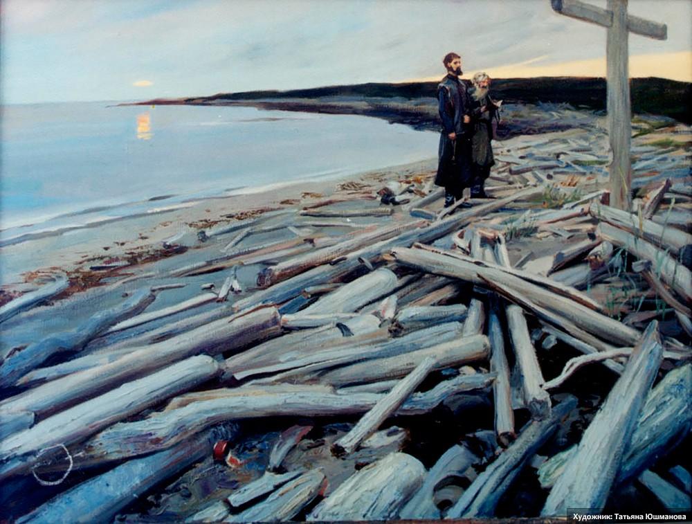 Белое море. Анзер. У поклонного Креста.