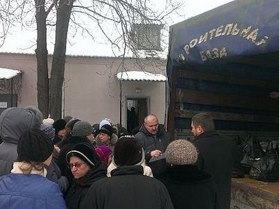 1,500 people in the Lugansk Diocese received food from the Church