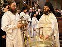 Богослужение в Сретенском монастыре на Крещение Господне