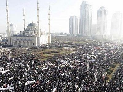 Грозный: Более 1 млн. человек приняли участие в акции против оскорбления верующих