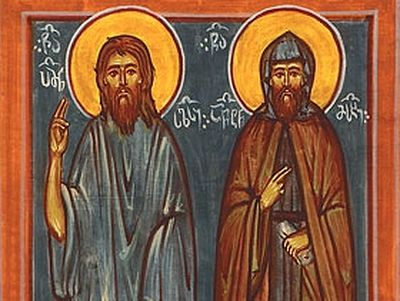 Venerable Father Pimen, Fool-for-Christ and Enlightener of Dagestan, and His Companion Anton Meskhi, the Censurer of Kings (13th century)