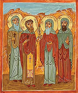 Holy Monk-martyrs Shio the New, Davit, Gabriel, and Pavle of Gareji (†1696–1700)