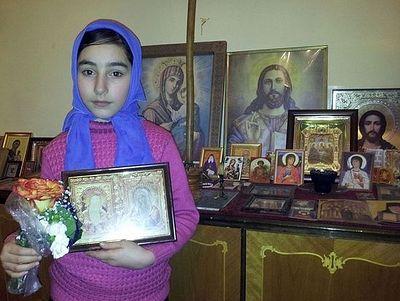 От чудотворной иконы «Умиление» исцелилась девочка из Гори