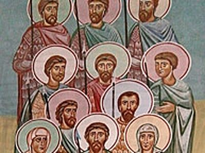 The Nine Kherkheulidze Brothers with Their Mother and Sister and Nine Thousand Martyrs of Marabda (†1625)