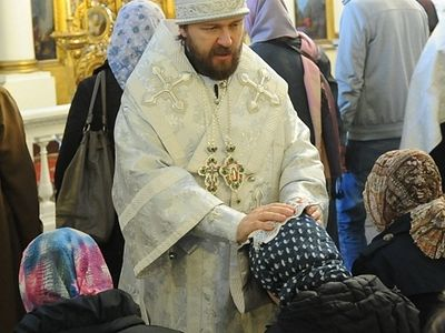 Митрополит Иларион совершил чин присоединения к Православной Церкви