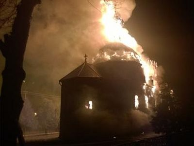 На Волыни на Благовещение сгорел старинный храм – уцелел только образ Ангела