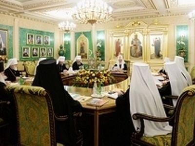 Началось первое в 2015 году заседание Священного Синода Русской Православной Церкви